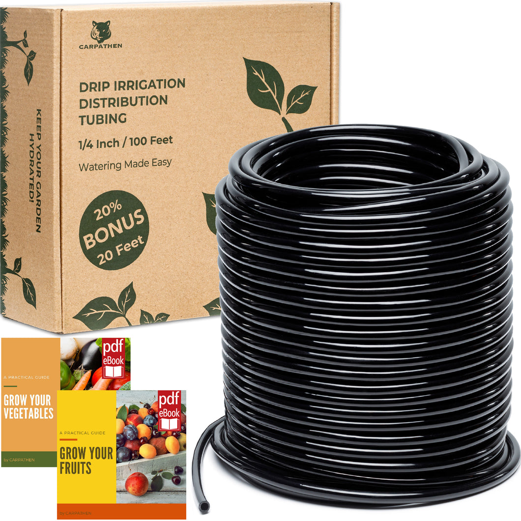 CARPATHEN 1/4 Drip Irrigation Tubing 100 ft