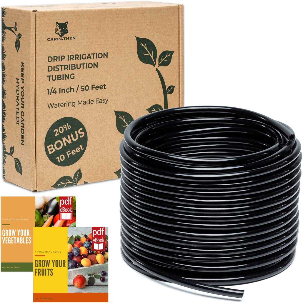 CARPATHEN 1/4 Drip Irrigation Tubing 50 ft
