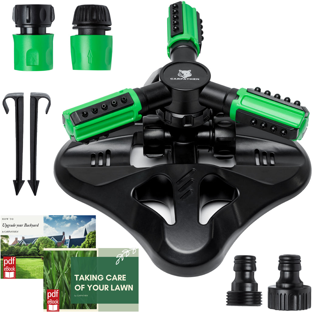 CARPATHEN Garden Sprinkler 360 Rotating
