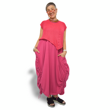 Load image into Gallery viewer, Bamboo Dress - fuchsia