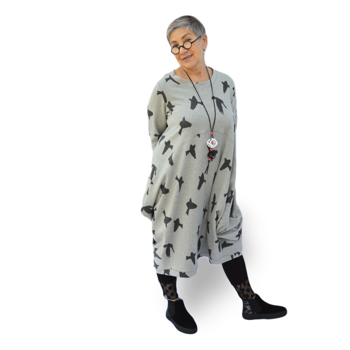 Bonita dress - Grey Bird