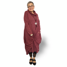 Load image into Gallery viewer, Bonita dress - light burgundy