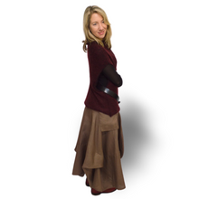 Load image into Gallery viewer, Linen Skirt - khaki