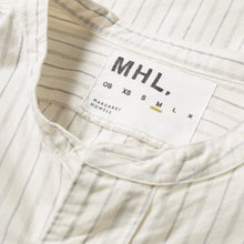 Load image into Gallery viewer, MHL. By Margaret Howell Collarless Shirt Cotton Stripe Off White/Stone