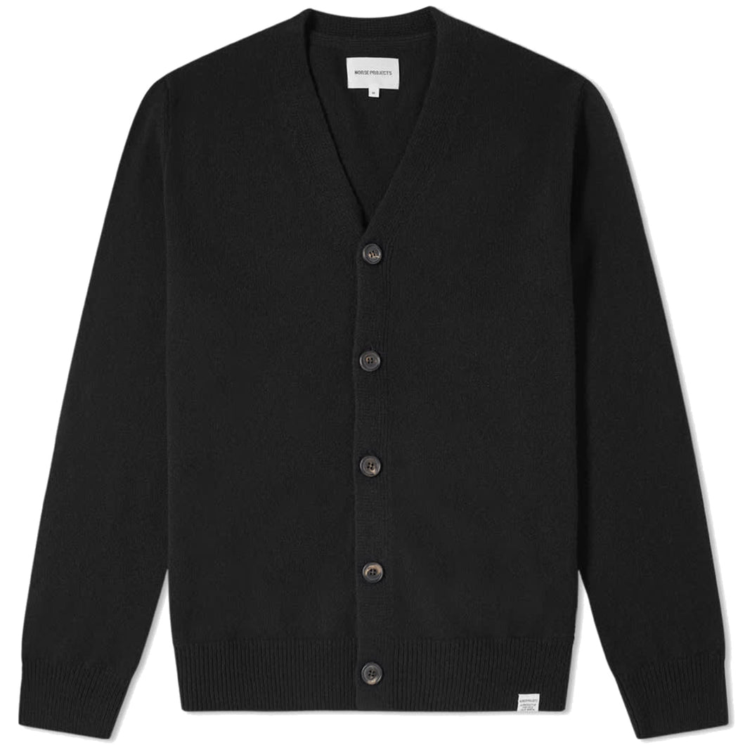 Norse Projects, Adam Lambswool Cardigan, Black