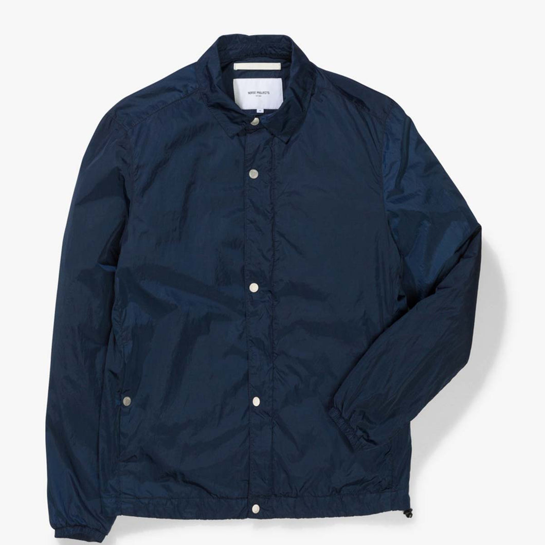 Norse Projects Svend Garment Dye Nylon Jacket  Navy