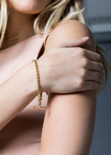 Load image into Gallery viewer, Tilly Sveaas Gold Belcher Bracelet With Gold T-Bar