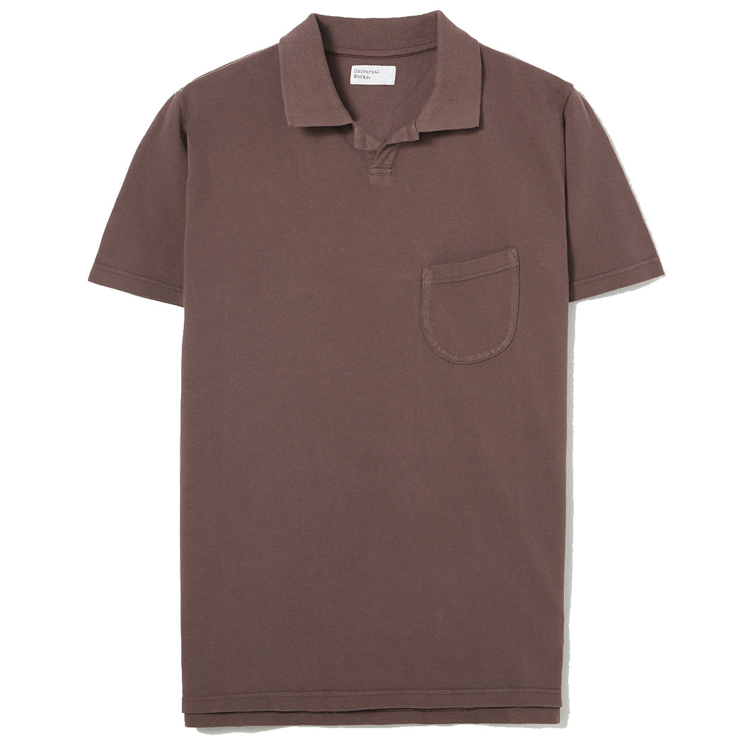 Universal Works Vacation Polo Pique Raisin