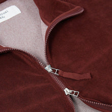 Load image into Gallery viewer, Universal Works Beach Zip Through Raisin Terry Fleece