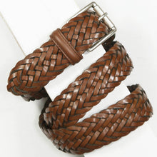 Load image into Gallery viewer, Andersons Classic Woven Leather Belt Tan