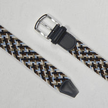 Load image into Gallery viewer, Andersons Classic Elastic Woven Belt Navy/Sky/Taupe/Cream