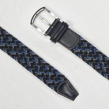 Load image into Gallery viewer, Andersons Classic Elastic Woven Belt Navy/Black/Grey/Blue