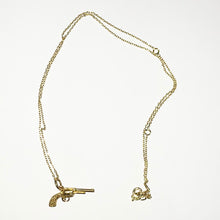 Load image into Gallery viewer, Tilly Sveaas Gold Gun Necklace
