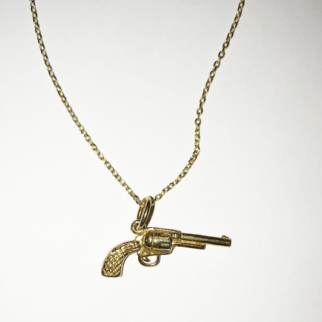 Tilly Sveaas Gold Gun Necklace