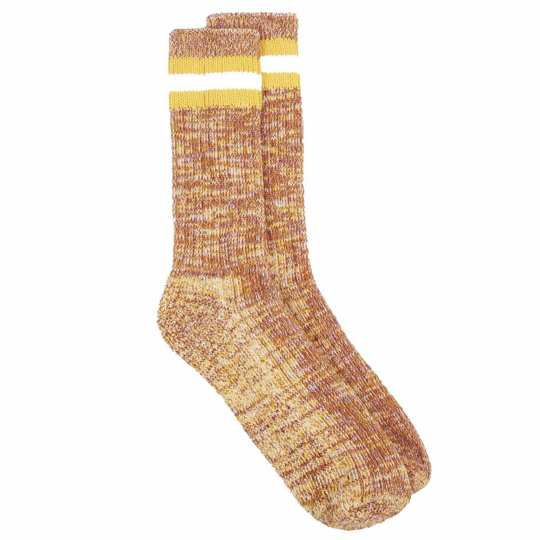 Universal Works Everyday Stripe Cotton Sock Yellow