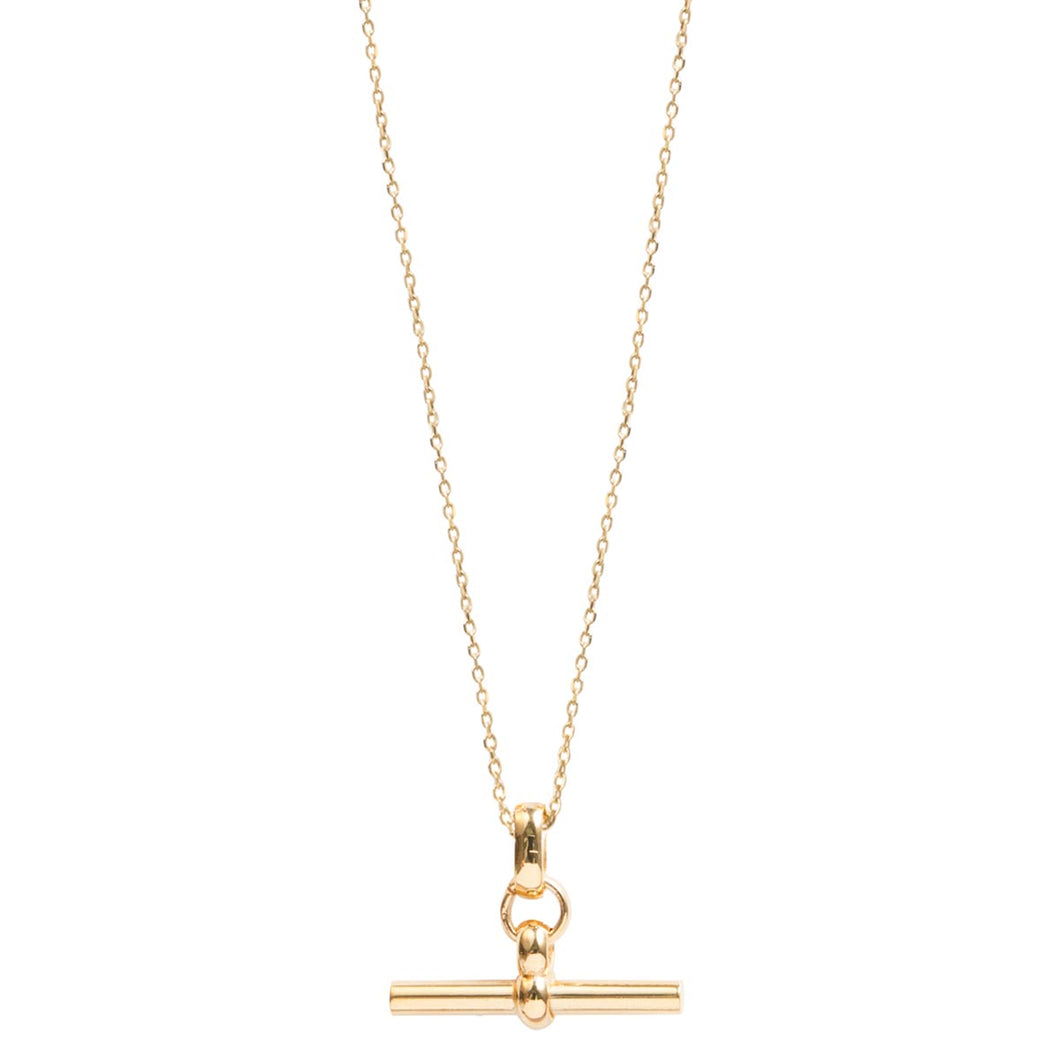 Tilly Sveaas Small Gold T-Bar On Trace Chain