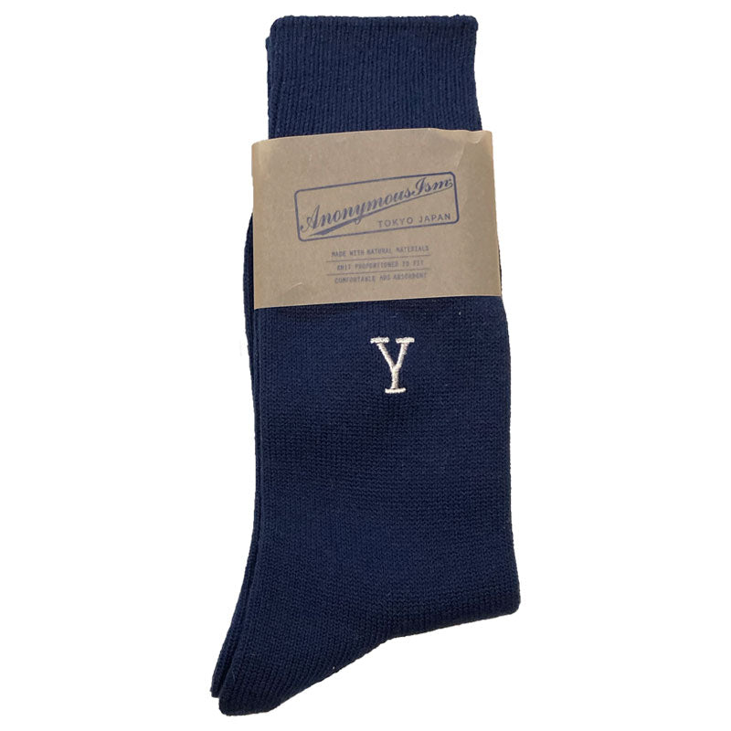 Anonymous Ism Monogram Letter Y Socks