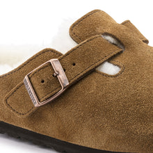 Load image into Gallery viewer, Birkenstock Boston Shearling Suede Leather Mink