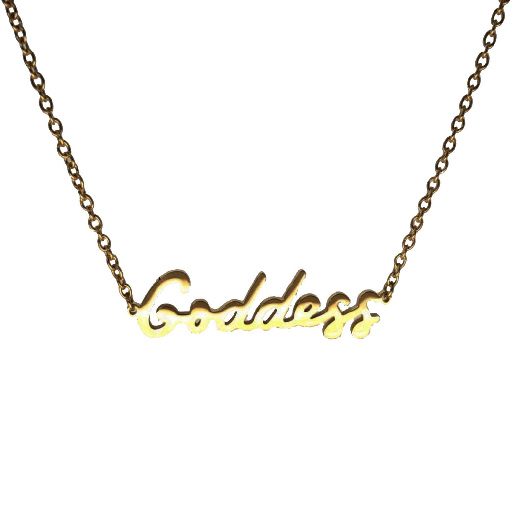 Hoops And Chains Goddess Necklace