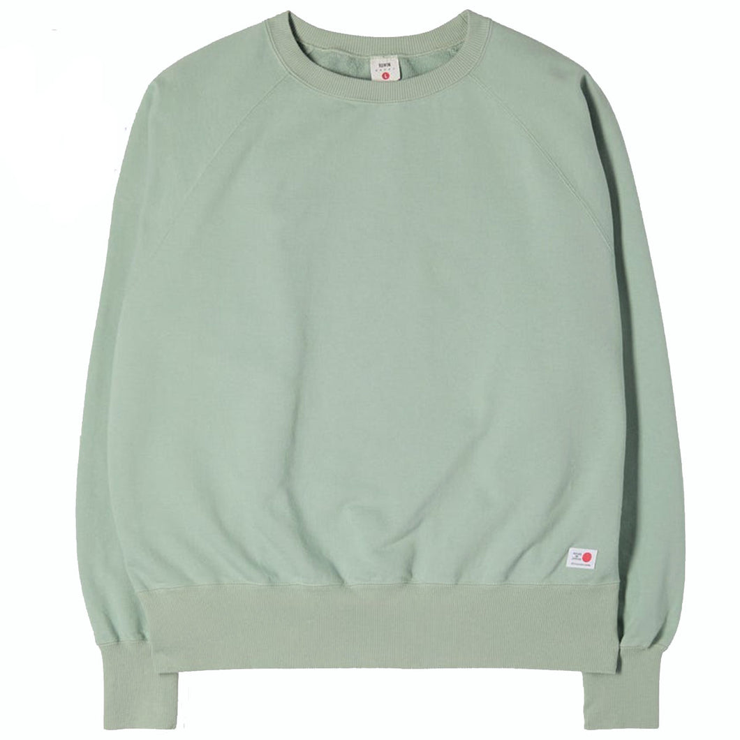 Edwin Made In Japan Raglan Sleeve Sweat Soft Green