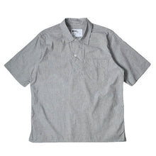 Load image into Gallery viewer, MHL Wide Placket Polo Shirt Dense  End On End Cotton Off White Black