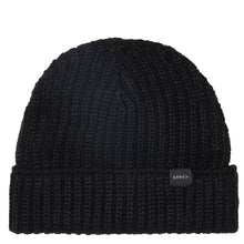 Load image into Gallery viewer, Edwin Purl Beanie Black