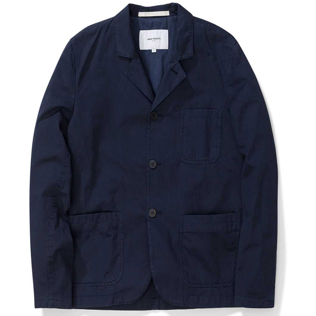 Norse Projects Lars Light Twill Dark Navy