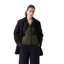 Load image into Gallery viewer, MHL Womens Worker Coat Military Midnight