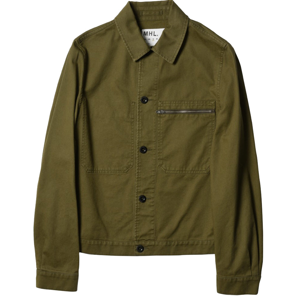 MHL Zip Pocket Jacket Dry Cotton Drill Khaki