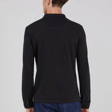 Load image into Gallery viewer, Sunspel Cotton Riviera Long Sleeve Polo Shirt Black