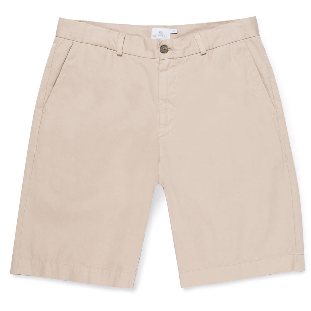 Sunspel Classic Chino Shorts Light Stone