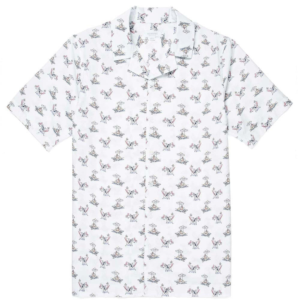 Sunspel Short Sleeve Shirt Sorimachi Cross-Word