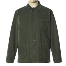 Load image into Gallery viewer, Universal Works Bakers Overshirt Green Fine Cord