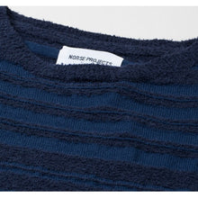 Load image into Gallery viewer, Norse Projects Sigfred Slub Stripe Navy