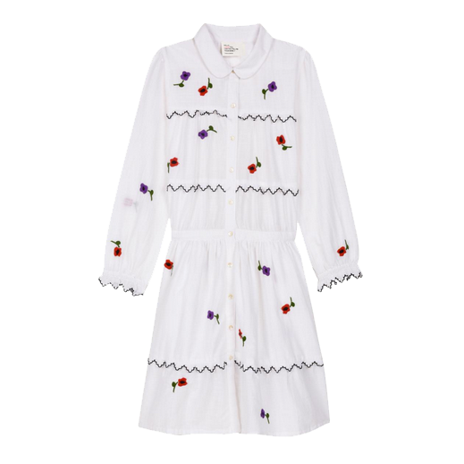 Leon & Harper White Roscoe Flower Dress