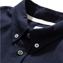 Load image into Gallery viewer, Norse Projects Anton Brushed Flannel Shirt Dark Navy