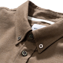 Load image into Gallery viewer, Norse Projects Anton Brushed Flannel Shirt Beech Green
