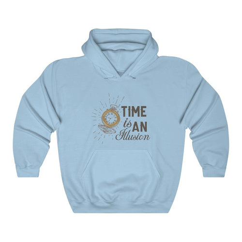 Time is an Illusion Unisex Heavy Blend™ Hooded Sweatshirt.