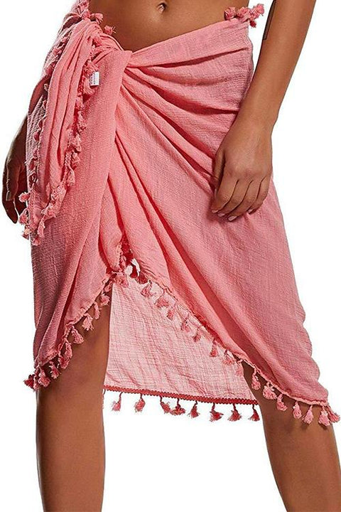 Kayladress Tassel Beach Wrap Sheer Bikini Cover Up
