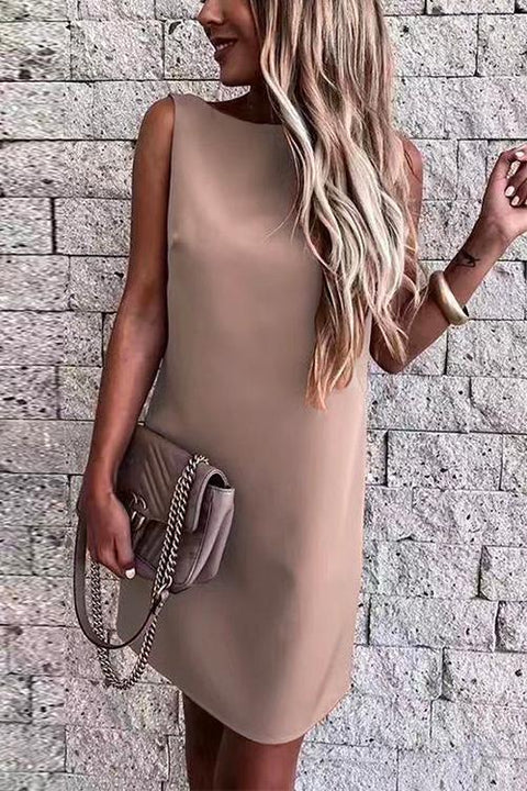 Kayladress Back Cut Out Sleeveless Mini Dress
