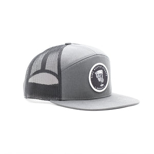 7-Panel Grey Trucker Hat