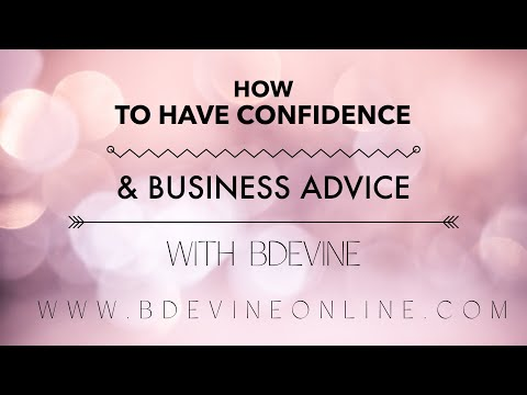 Free! Webinar on Confidence and Business advice