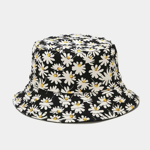Daisies Reversible Bucket Sun Hat