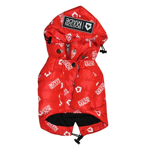 Modern Bostonian Red Dog Coat