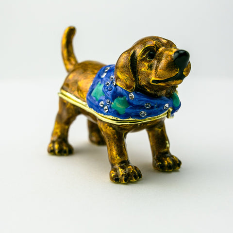 Brown Dog Trinket Box