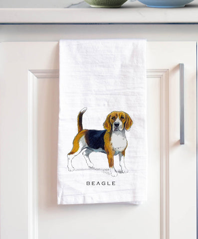 Beagle Dog Bath Hand Towel