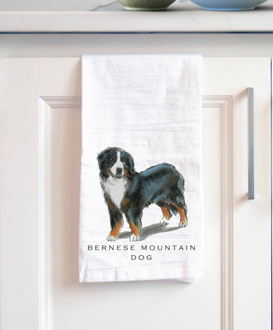 Bernese Mountain Dog Bath Hand Towel