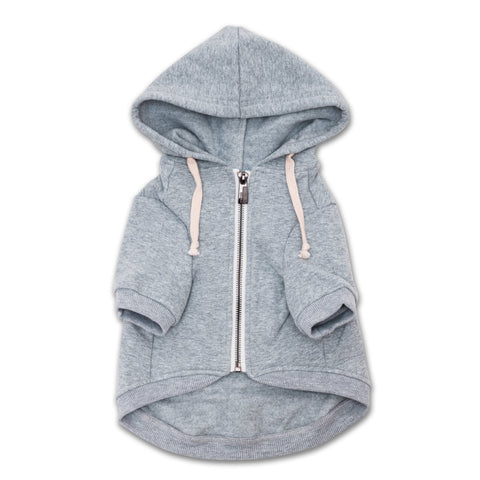 Light Grey Dog Hoodie