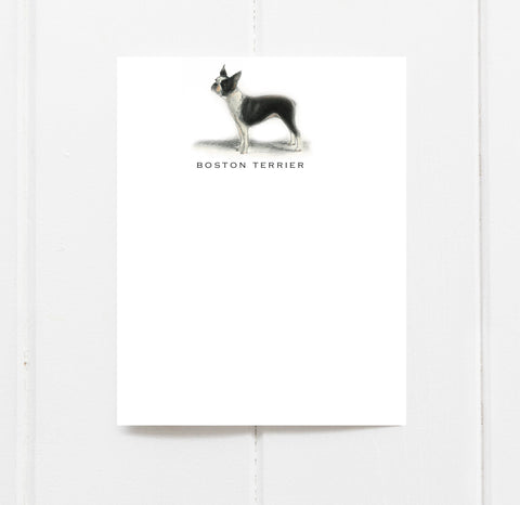 Boston Terrier Stationery