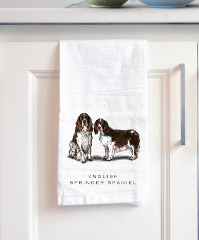 English Springer Spaniel Bath Hand Towel